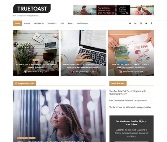 truetoast-website-portfolio